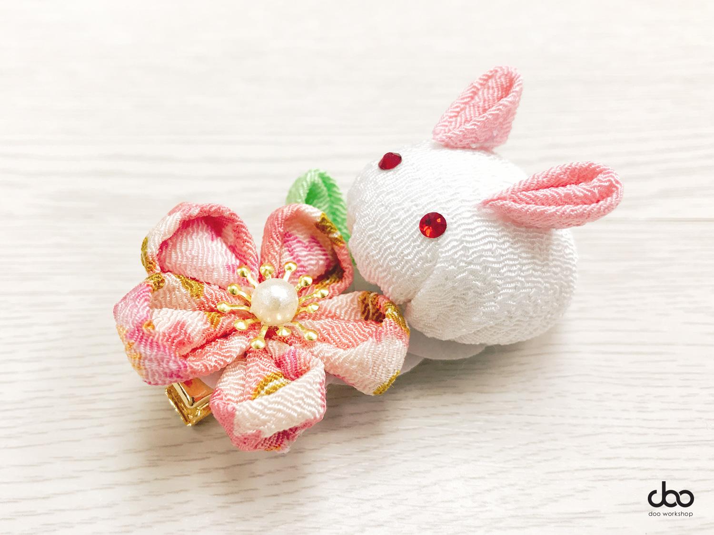 日式雪玉兔髮夾工作坊